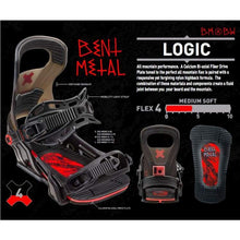 Snowboard Bindings: Bent Metal Logic Snowboard Bindings - Black 1819 - 1819 Black Bmbw Gear Ice & Snow