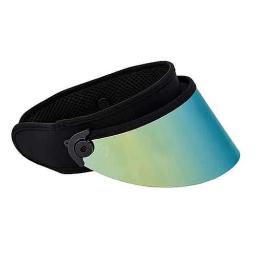 Headwear / Visors: BLUESTONE SUN SHIELDS Short Lux - Aqua - BLUESTONE / OSFA / Aqua / 2020, Accessories, Aqua, BLUESTONE SUN SHIELDS, Head &