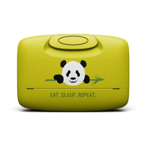 Cases / Card Holder: Capsul Case: Panda Garphic - Capsul / Panda In Acid Green / Accessories Accessory Cases Capsul Cases / Card Holder Ice