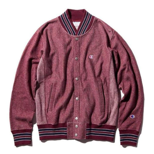 Hoodies & Sweaters: Champion Baseball Jacket C3-G028 - Burgundy [Japanese Version] - Champion / Burgundy / M / Basketball Burgundy Champion