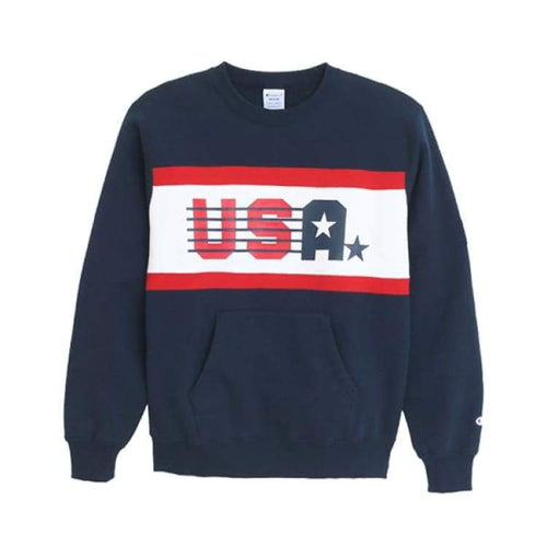 Hoodies & Sweaters: Champion Crew Neck Sweat Shirt - Navy [Japanese Version] - Champion / Navy / M / Basketball Champion Clothing Hoodies &