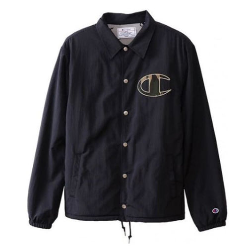 Jackets / Coach: Champion Genuine Coach Jacket Black C3-N605 [Japanese Version] - Champion / Black / M / Basketball Black Champion Clothing