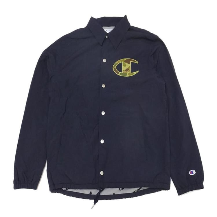 Jackets / Coach: Champion Genuine Coach Jacket Navy C3-N605 [Japanese Version] - Champion / Navy / M / Basketball Champion Clothing Jackets