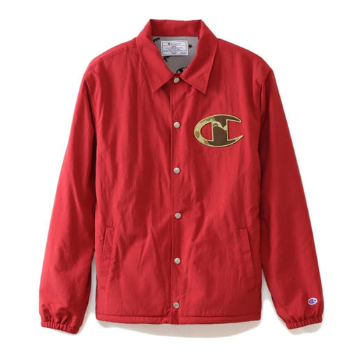 Jackets / Coach: Champion Genuine Coach Jacket Red C3-N605 [Japanese Version] - Champion / Red / M / Basketball Champion Clothing Jackets