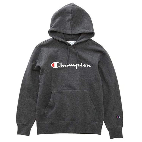 Hoodies & Sweaters: Champion Parka Pullover Hoodie - Heather Charcoal C3-J117 [Japanese Version] - Champion / S / Heather Charcoal /