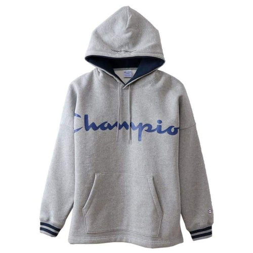 Hoodies & Sweaters: Champion Parka Pullover Hoodie - Oxford Gray C3-N119 [Japanese Version] - Champion / S / Oxford Gray / Basketball