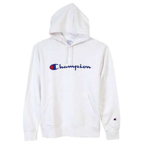 Hoodies & Sweaters: Champion Parka Pullover Hoodie - White C3-J117 [Japanese Version] - Champion / S / White / Basketball Champion Clothing