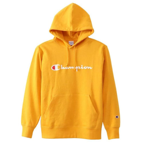 Hoodies & Sweaters: Champion Parka Pullover Hoodie - Yellow C3-J117 [Japanese Version] - Champion / S / Yellow / Basketball Champion