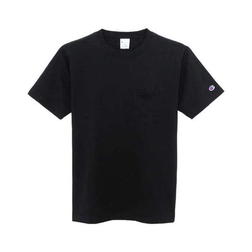 Tees / Short Sleeve: Champion Pocket S/s Basic Logo Tee C3-K340 - Black [Japanese Version] - Champion / Black / M / Basketball Black