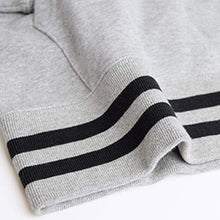 Hoodies & Sweaters: Champion Rib Line Parka Pullover Hoodie - Oxford Gray C3-L121 [Japanese Version] - Basketball Champion Clothing Hoodies