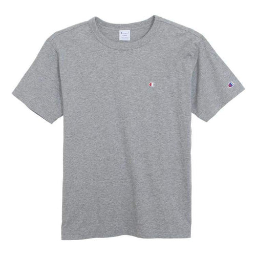 Tees / Short Sleeve: Champion S/s Basic Logo Tee C3-H359 - Grey [Japanese Version] - Champion / Gray / M / Basketball Champion Clothing Gray