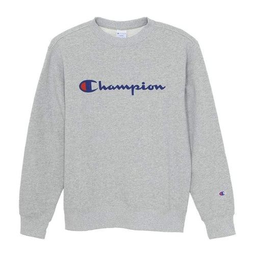 Hoodies & Sweaters: Champion Training Basic Crew - Grey [Japanese Version] - Champion / Grey / M / Basketball Champion Clothing Grey Hoodies