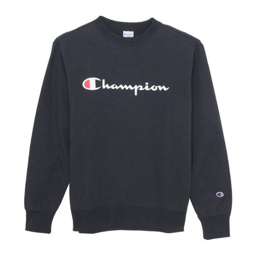 Hoodies & Sweaters: Champion Training Basic Crew - Navy [Japanese Version] - Champion / Navy / M / Basketball Champion Clothing Hoodies &