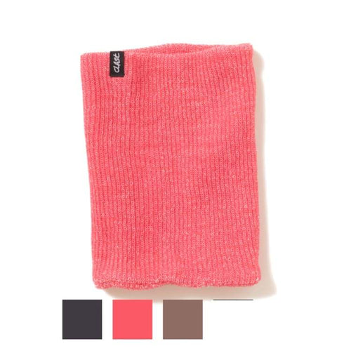 Neck Warmers: Clast Knitted Neckwarmer - 3Color [W14-106] - Accessories Clast Full Mask Head & Neck Wear Heather Apricot |