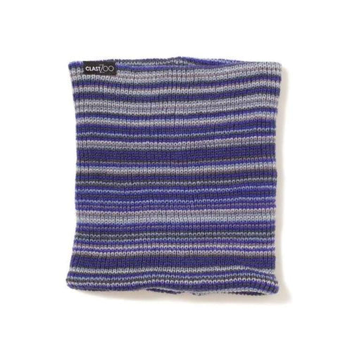 Neck Warmers: Clast Obrian Knitted Neckwarmer - Cobalt Blue/red/grey [W14-1061] - Clast / Cobalt Blue/red/grey / Accessories Clast Cobalt