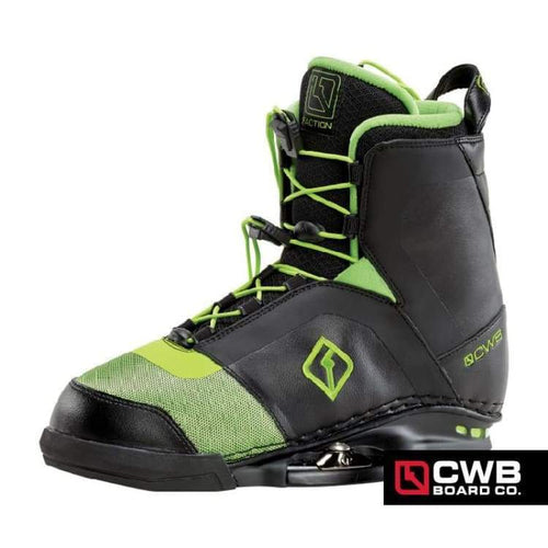 Wakeboard Boots / Bindings: Cwb Faction 2016 - Black/green - Cwb / 9-10 / Black/green / 10-11 2016 9-10 Black/green Cwb |