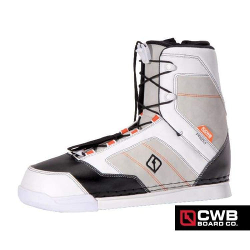 Wakeboard Boots / Bindings: Cwb Prizm Binding 15 - White/black - Cwb / 8-9 / White/black / 2015 Cwb Gear Mens On Sale |