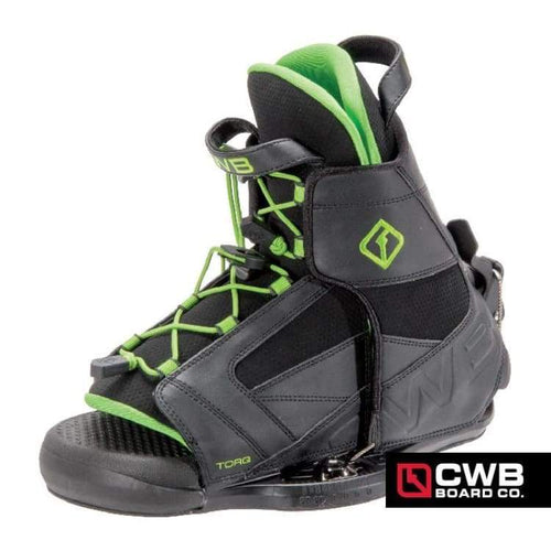 Wakeboard Boots / Bindings: Cwb Torq 2015 - Black/green - Cwb / 12-14 / Black/green / 2015 Black/green Cwb Gear Mens |