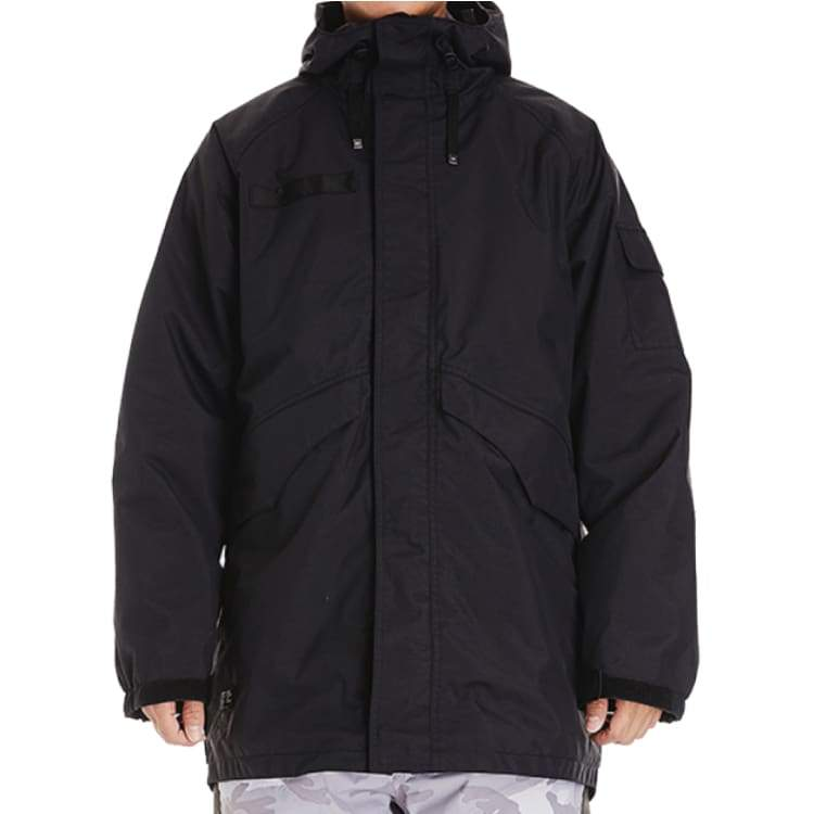 Jackets / Snow: Dimito Mens Combat Snow Jacket Fw1718 - Black [Korean Brand] - Dimito / S / Black / 1718 Black Clothing Dimito Ice & Snow |