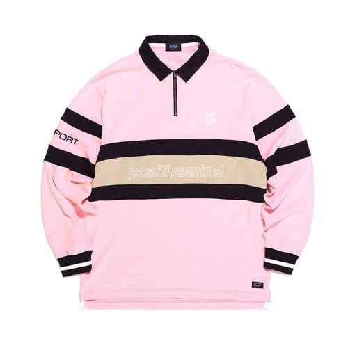 Polos / Long Sleeve: Dimito Pstvm Polo Zip Lsv Tee - Pink [Korean Brand] - Dimito / Pink / M / 1819 Clothing Dimito Ice & Snow Mens |