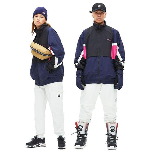 Jackets / Snow: Dimito Unisex Camp Snow Jacket - Navy [Korean Brand] - 1819 Clothing Dimito Ice & Snow Jackets