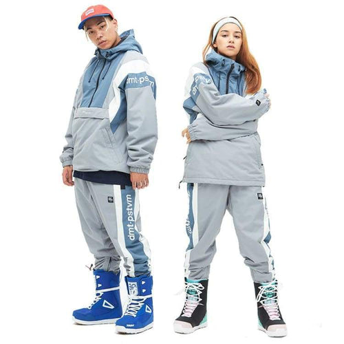 Jackets / Snow: Dimito Unisex Rovin Snow Jacket - Grey [Korean Brand] - 1819 Clothing Dimito Grey Ice & Snow