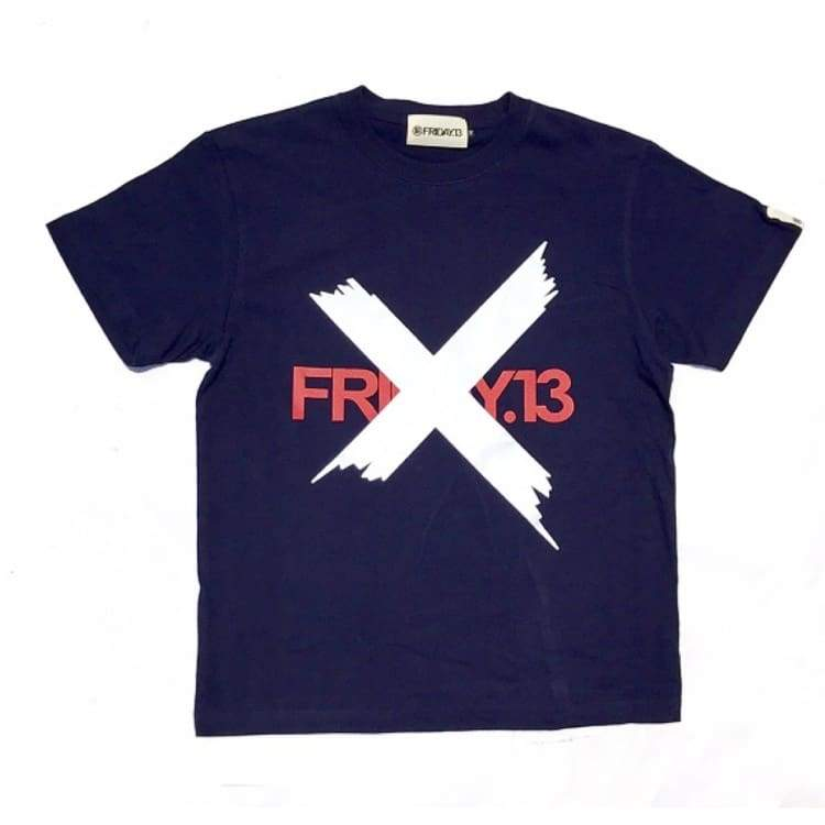 Tees / Short Sleeve: Friday 13 Checkpoint Tee - Navy - Friday.13 / M / Clothing Friday.13 Ice & Snow Land Mens |