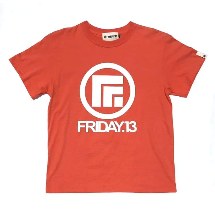 Tees / Short Sleeve: Friday 13 Logo Tee - Orange - Friday.13 / L / Orange / Clothing Friday.13 Ice & Snow Land Mens |