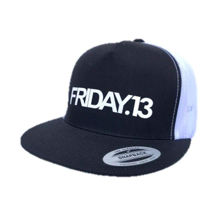 Headwear / Caps: Friday 13 Thirteen Trucker Mesh Cap - Black - Friday.13 / Black / Accessories Black Caps Friday.13 Head & Neck Wear |