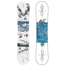 Snowboards: Gnu Asym Recess Btx Snowboard Fw1819 [Kids] - Gnu / 130 / 130 1819 All Mountain Gear Gnu | Occn-Whiteline-17Sn002130