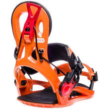 Snowboard Bindings: Gnu Cheeter Snowboard Bindings Fw1819 Orange [Mens] - 1819 Gear Gnu Ice & Snow L