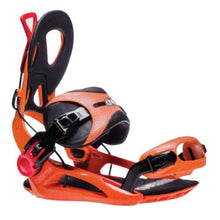 Snowboard Bindings: Gnu Cheeter Snowboard Bindings Fw1819 Orange [Mens] - Gnu / L / Ornge / 1819 Gear Gnu Ice & Snow L |