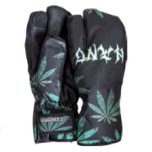 Gloves & Mittens / Snow: Hangover Weed Trigger Mitten Snow Glove - Black/green - Hangover / Black/green / S / 1819 Accessories Black/green