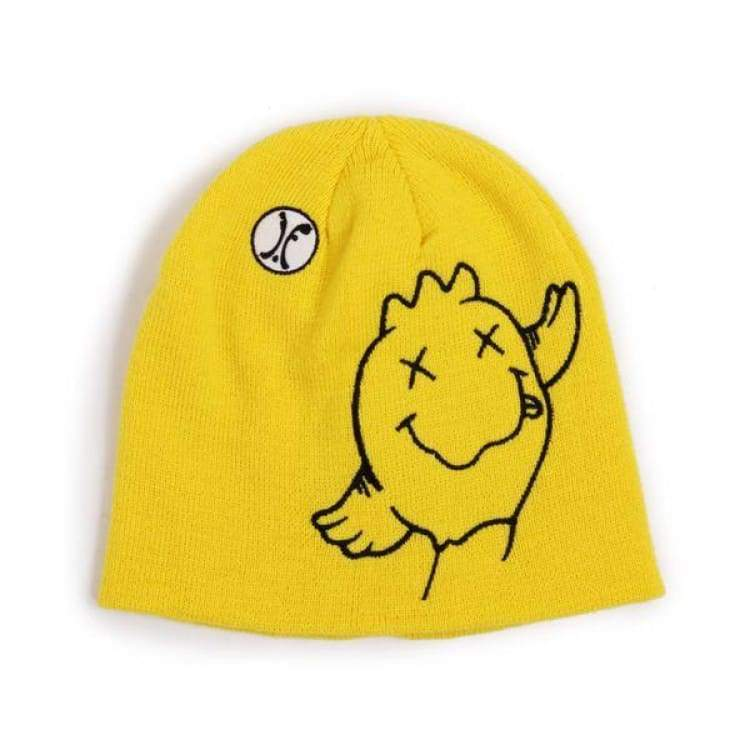 Headwear / Beanies: Ifound Acid Bird Beanie - Yellow - Ifound / Yellow / Accessories Beanies Head & Neck Wear Headwear / Beanies Ice & Snow
