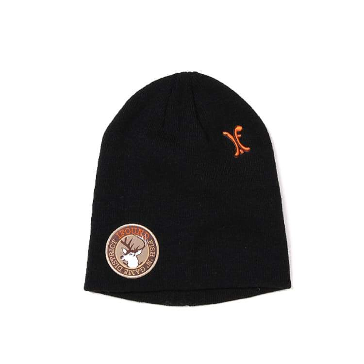 Headwear / Beanies: Ifound Deer Beanie - 3Color [Fish N Game] - Ifound / Black / Accessories Beanies Black Gray Head & Neck Wear |