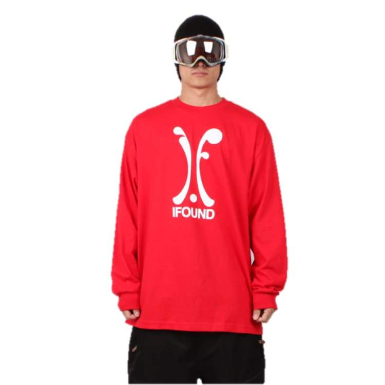 Tees / Long Sleeve: Ifound Logo Long Sleeve - Red - Ifound / Red / Xl / Clothing Ice & Snow Ifound Mens On Sale |