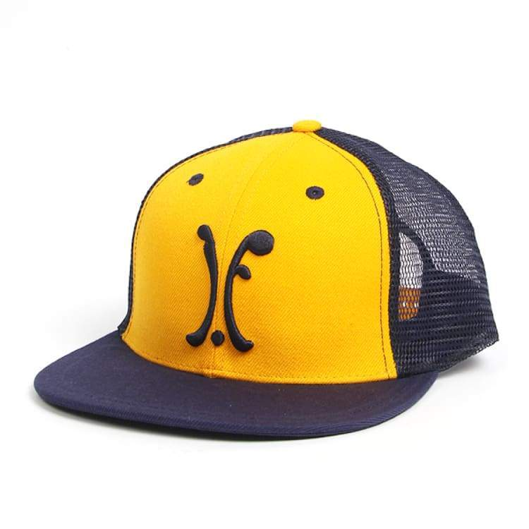 Headwear / Caps: Ifound Logo Mesh Snapback Cap - Yellow - Ifound / Yellow / Accessories Cap Head & Neck Wear Headwear / Caps Ice & Snow |