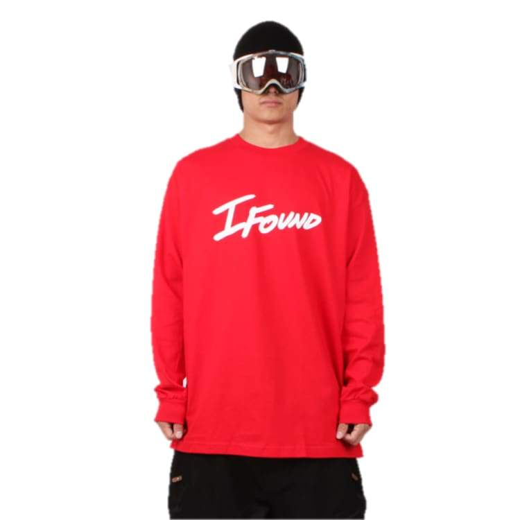 Tees / Long Sleeve: Ifound Ifound Long Sleeve - Red - Ifound / Red / Xl / Clothing Ice & Snow Ifound Mens On Sale |