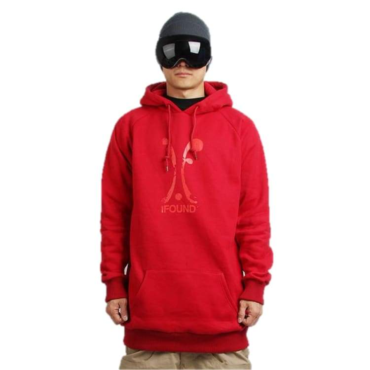 Hoodies & Sweaters: Ifound Splatter Tall Hoodie - Burgundy - Ifound / Red / L / Clothing Hoodies & Sweaters Ice & Snow Ifound Mens |