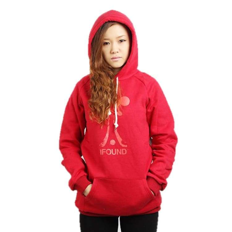 Hoodies & Sweaters: Ifound Women Splatter Hood - Burgundy - Ifound / Red / One Size / Clothing Hoodies & Sweaters Ice & Snow Ifound On Sale