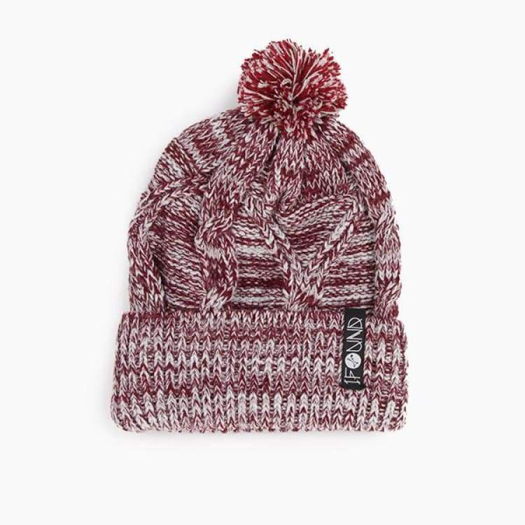 Headwear / Beanies: Ifound Womens Rosewood Beanie - 2Color - Ifound / Burgundy / Accessories Beanies Burgundy Head & Neck Wear Headwear /
