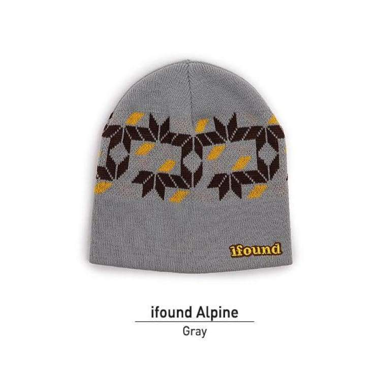 Headwear / Beanies: Ifoundalpine Beanie - 2Color - Ifound / Gray / Accessories Beanies Gray Head & Neck Wear Headwear / Beanies |