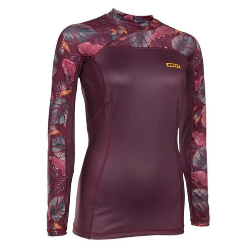 Rashguards & Tops: Ion Rashguard Women Lizz Ls - Rg18597Io - S / Dark Berry / Ion / Clothing Dark Berry Gear Ion On Sale |