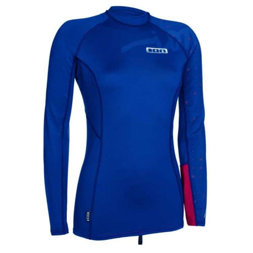 Rashguards & Tops: Ion Rashguard Women Ls - Rg15556Io - Xs / Blue / Ion / Blue Clothing Gear Ion On Sale | Ochk-Windshop-Ion-Rg15556Io