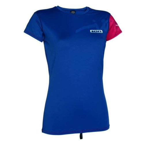 Rashguards & Tops: Ion Rashguard Women Ss - Rg15546Io - Ion / S / Blue / Blue Clothing Gear Ion On Sale | Ochk-Windshop-Ion-Rg15546Io-1