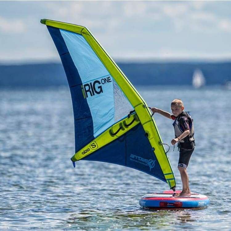iRIG ONE : THE FIRST INFLATABLE WINDSURF RIG EVER MADE - Lime [S]