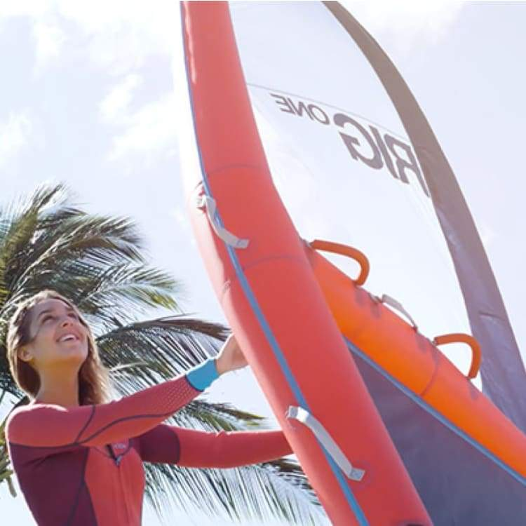 iRIG ONE: THE FIRST INFLATABLE WINDSURF RIG EVER MADE - RED [M]