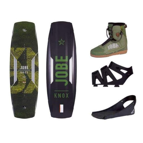 Wakeboard Packages: Jobe 2017 Knox Wakeboard W/ Evo Bindings Package [New] - 139 / M ( 8-9) / 9 / Gear On Sale Slingshot Wakeboard Packages