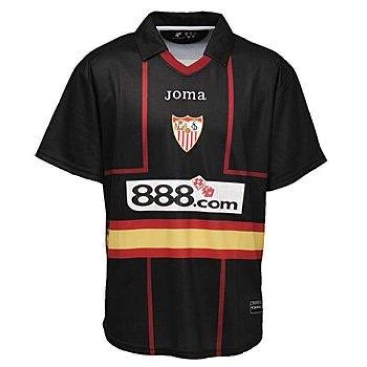 Jerseys / Soccer: Joma Sevilla 07/08 (A) S/s Uefa 2000.98.1007 - Joma / M / Black / 0708 Away Kit Black Clothing Football |