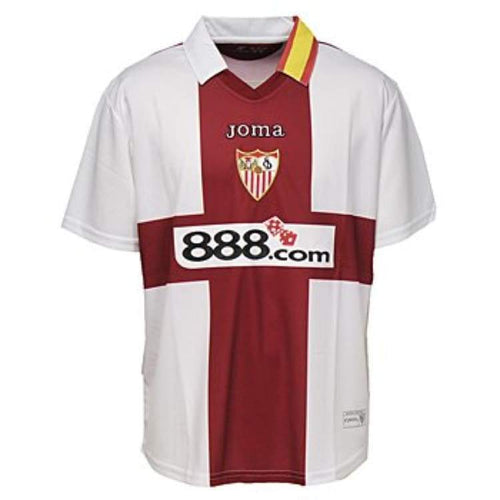 Jerseys / Soccer: Joma Sevilla 07/08 (H) S/s Uefa 2000.98.0807 - Joma / S / White / 0708 Clothing Football Home Kit Jerseys |